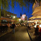 Cafes at Night, Riverside Market, Ljubljana, Slovenia