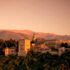Alhambra View at Sunset, Granada, Andalucia, Spain