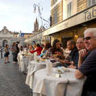 Outdoor Cafe in Evening, Rome, Italy
