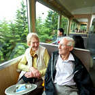 Train Travelers, Berner Oberland, Switzerland