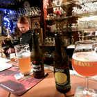 Beers in Pub, Bruges, Belgium