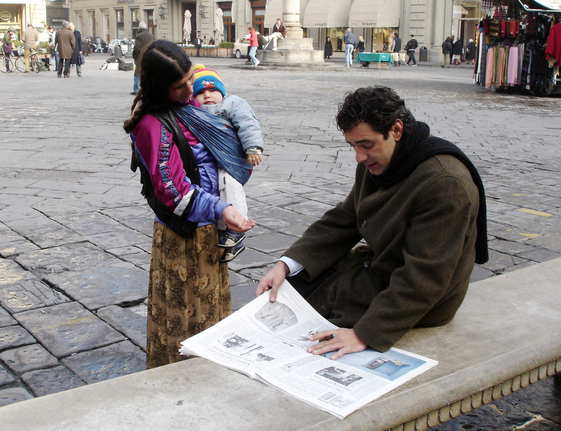 Woman Begging, Florence, Italy