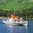 Boat on Lake Ullswater, Keswick, Lake District, England