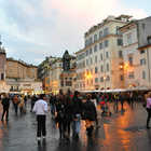 Evening at Campo de' Fiori, Rome, Italy
