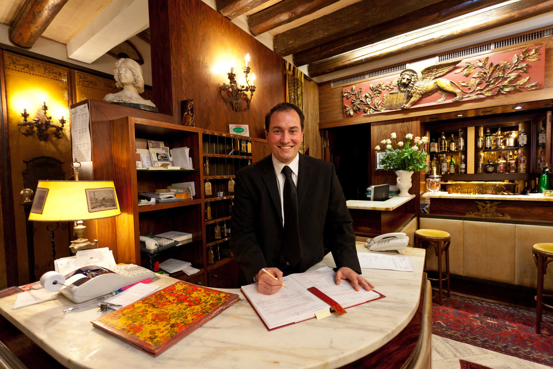 Hotel Reception Staff, Venice, Italy
