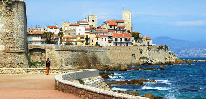 Waterfront of Antibes, French Riviera, France