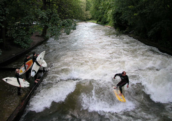 River Surfers, Munich, Germany