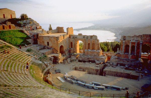 Theater of Taormina, Sicily, Italy