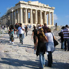 Parthenon Crowd, Acropolis, Athens, Greece