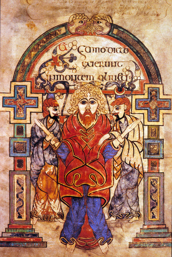 Detail from Book of Kells, Dublin, Ireland