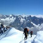 Aiguille du Midi Climbers, Mt. Blanc, Chamonix, France