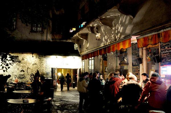Ruin Bar Courtyard, Budapest, Hungary