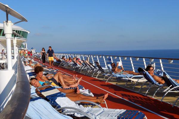Cruise Ship Sunbathers