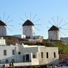 Windmills on Mykonos, Greece
