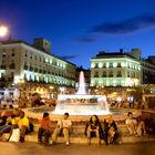 Puerta del Sol at Night, Madrid, Spain