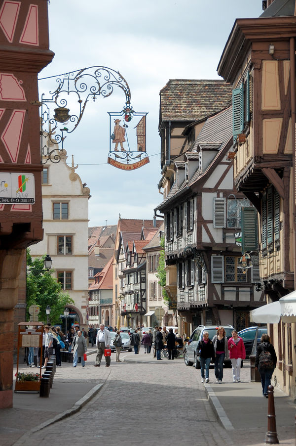 Street in Colmar, Alsace, France