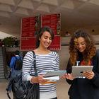 iPad Users in Louvre Museum, Paris, France