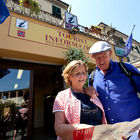 People Outside Tourist Information Office, Tuscany, Italy