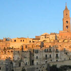 Church view from Sassi, Matera, Basilicata, Italy